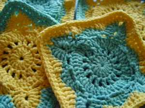 crochet, granny square, willow square, table runner, handmade, commission, cotton yarn,